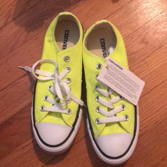 32d20ec3956e Neon yellow converses! Brand new!